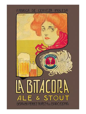 La Bitacora Ale and Stout Prints by Barral Nualart