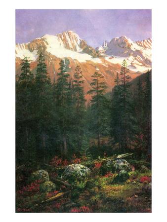 Canadian Rockies Posters by Albert Bierstadt