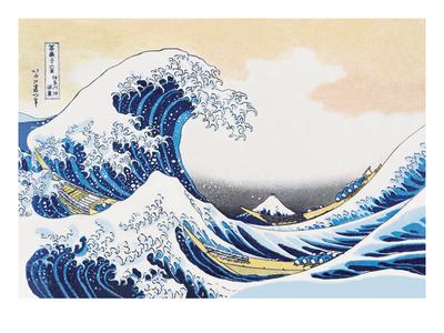 The Great Wave of Kanagawa Kunst af Katsushika Hokusai