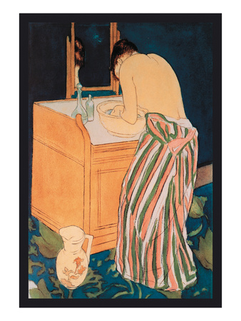 Woman Bathing Posters by Mary Cassatt
