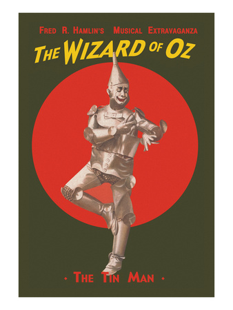 The Wizard of Oz - the Tin Man Poster by  Russell-Morgan Print