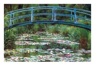 Japanese Footbridge Prints by Claude Monet