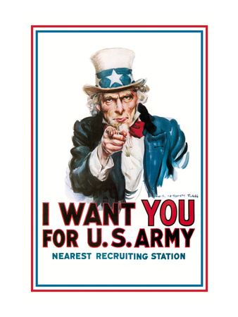 I Want You for the U.S. Army Prints by James Montgomery Flagg