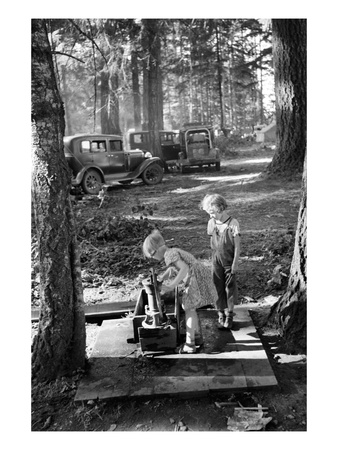 Bean Picker Children Prints by Dorothea Lange