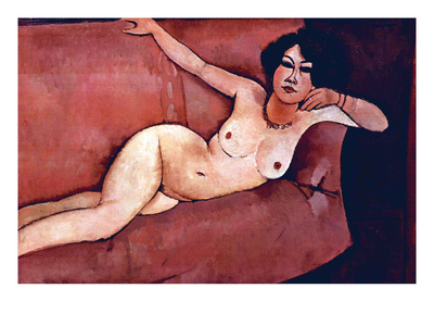 Act on a Sofa (Almaiisa) Posters by Amedeo Modigliani