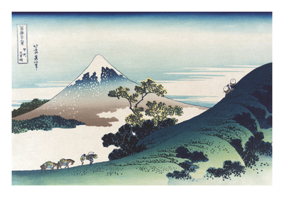 Inumi Pass in the Kai Province Print by Katsushika Hokusai
