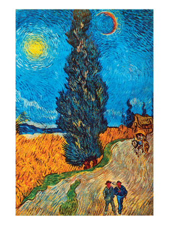 Road with Cypresses Posters by Vincent van Gogh