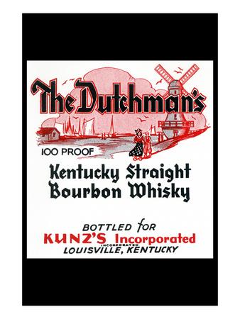 The Dutchman's Kentucky Straight Bourbon Whiskey Prints