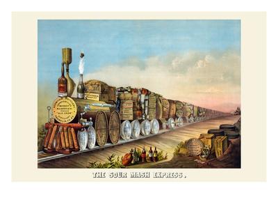 The Sour Mash Express Prints by  Shober & Carqueville Lithograph Co