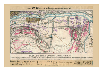 Plan of the Battle of Fredericksburg Posters by Robert Knox Sneden