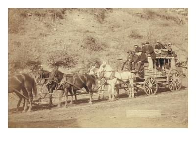 The Last Deadwood Coach Art by John C.H. Grabill