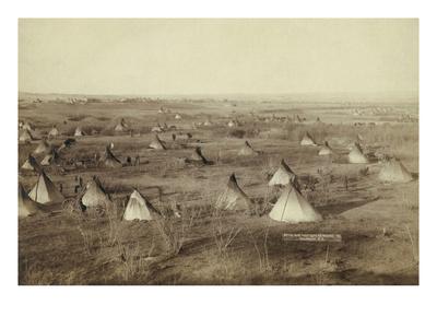 Native American Encampment - Lakota Indians Prints by John C.H. Grabill