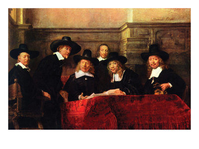 Portrait of Chairman of the Cloth Makers Guild Posters by  Rembrandt van Rijn