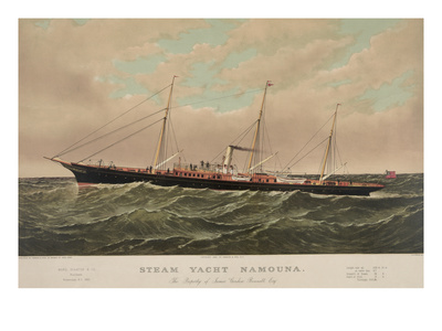 Steam Yacht Namouna Print