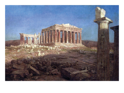 The Parthenon Posters by Frederic Edwin Church