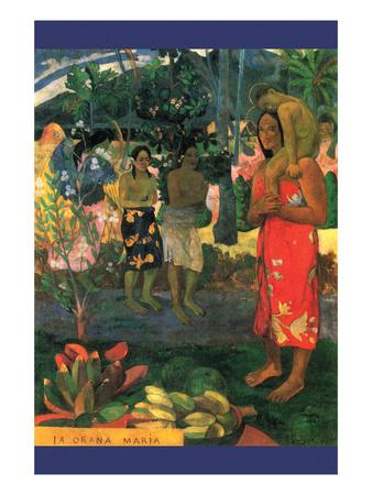 La Orana Maria Prints by Paul Gauguin