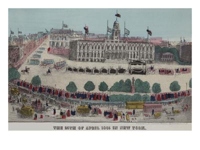 President Lincoln's Funeral Cortege Art