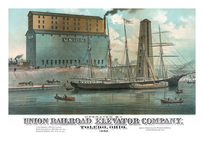 Operated by Union Railroad Elevator Company Prints by  Calvert Lithograph Co