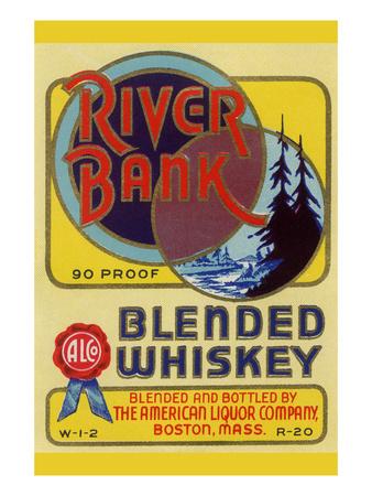 River Bank Blended Whiskey Poster