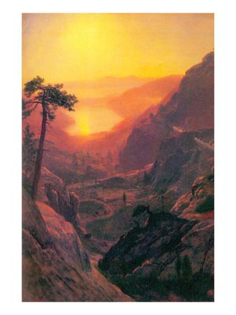 Donner Lake Posters by Albert Bierstadt