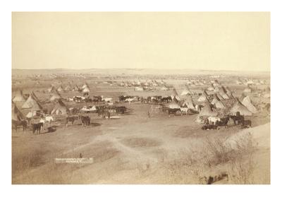 Native American Encampment - Lakota Indians Poster by John C.H. Grabill