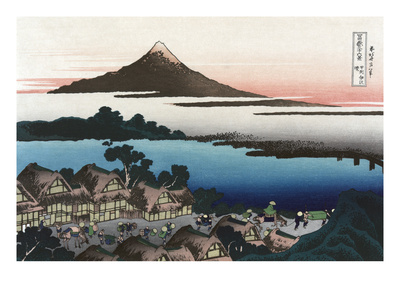 Dawn at Isawa in Kai Province Posters by Katsushika Hokusai