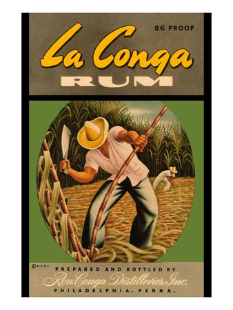 La Conga Rum Art by  R.C.D.I