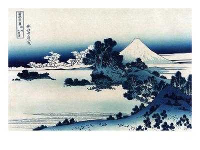 Schichiri Beach in Sagami Province Posters by Katsushika Hokusai