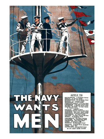 The Navy Wants Men Prints by  Mortimer Co