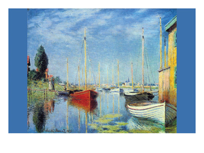 Pleasure Boats at Argenteuil Prints by Claude Monet