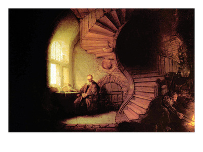 The Philosopher Prints by  Rembrandt van Rijn