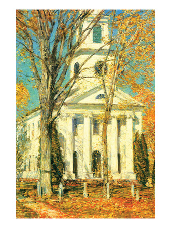 Church at Old Lyme, Connecticut Art by Childe Hassam