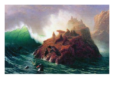 Seal Rock, California Posters by Albert Bierstadt