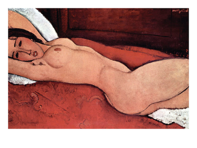 Nude Poster by Amedeo Modigliani