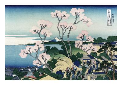 Goten-Yama-Hill. Shinagawa on the Tokaido Road Art by Katsushika Hokusai