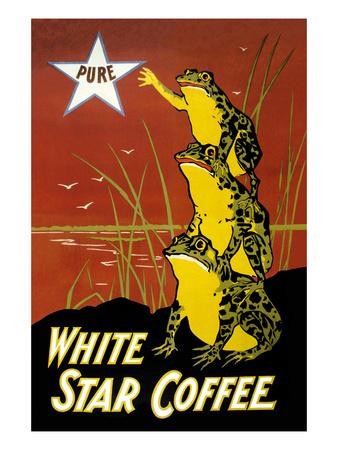 White Star Coffee Prints by  U.S. Printing Co