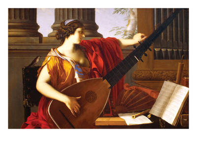 Allegory of Music Prints by Laurent de La Hyre
