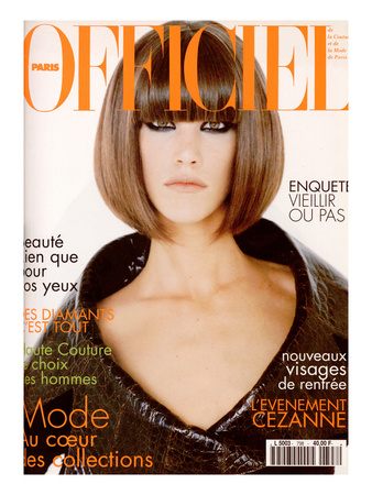 L'Officiel, September 1995 - Laurie, Visage de La Mode, Habillée Par Christian Dior Posters by Grey Zisser