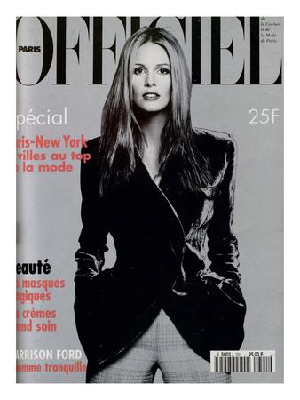 L'Officiel, November 1994 - Elle Mc Pherson Habillée Par Giorgio Armani Art by Francesco Scavullo