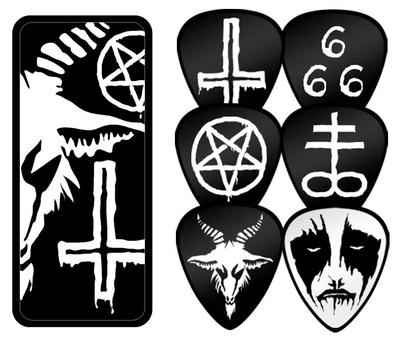 Black Metal Guitar Picks Guitar Picks