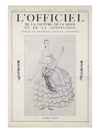 L'Officiel, November-December 1922 Posters by Jeanne Lanvin
