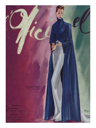 L'Officiel, February 1939 - Madeleine Vionnet Posters af  Lbenigni