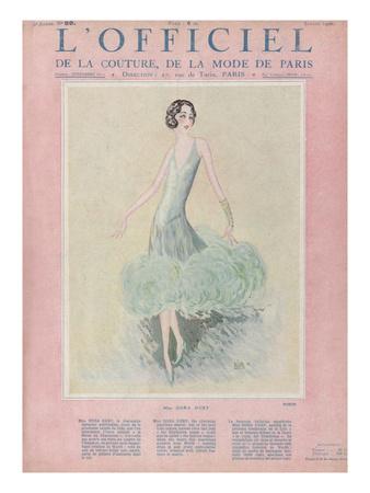 L'Officiel, July 1926 - Miss Dora Duby Plakater af  Worth