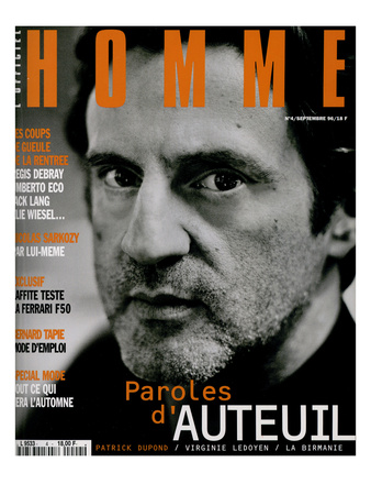 L'Optimum, September 1996 - Daniel Auteuil Prints by Marcel Hartmann