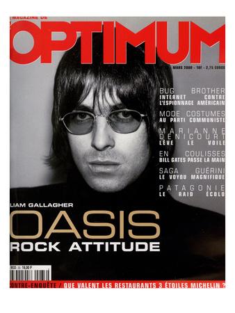 L'Optimum, March 2000 - Liam Gallagher Print by Nicolas Hidiroglou