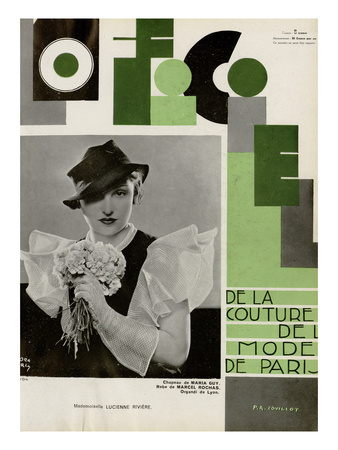 L'Officiel, July 1933 - Lucienne Rivière Prints by Madame D'Ora & A.P. Covillot