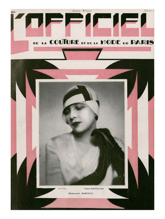 L'Officiel, July 1928 - Mlle Marcelle Prints by  Madame D'Ora