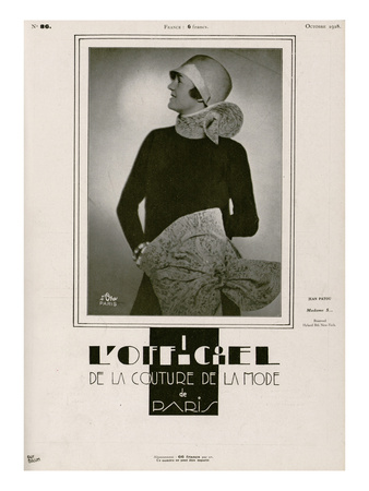 L'Officiel, October 1928 - Mme S… Print by Madame D'Ora & Guy Brum
