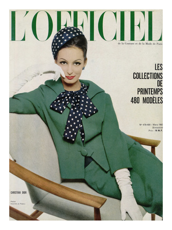 L'Officiel, March 1962 - Christian Dior Posters by Philippe Pottier