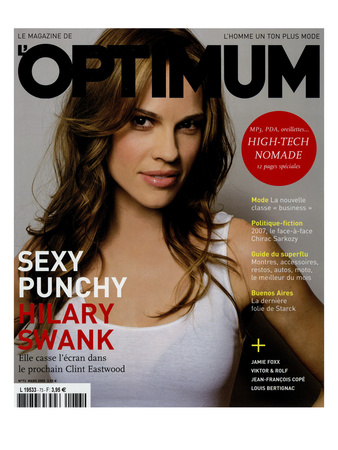 L'Optimum, March 2005 - Hilary Swank Poster by Mark Abrahams